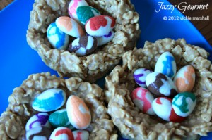 Peanut Butter Caramel Chewy Easter Egg Nests2