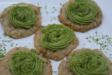 Crunchy Tortilla Chip Cookies with Avocado Frosting