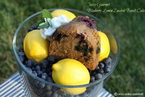 Blueberry Lemon Zucchini Bundt Cake