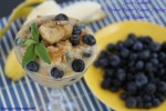 Brown Butter Banana Pudding with Blueberries