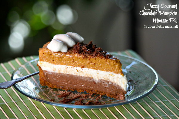 Chocolate Pumpkin Mousse Pie by Jazzy Gourmet
