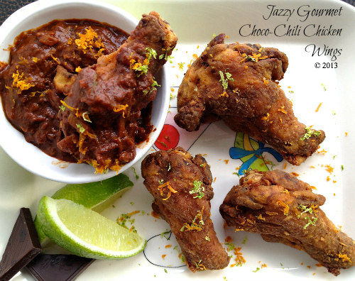 Choco-Chili Chicken Wings by Jazzy Gourmet