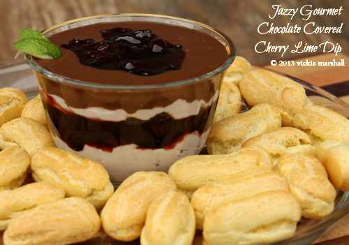 Chocolate Covered Cherry Lime Dip by Jazzy Gourmet