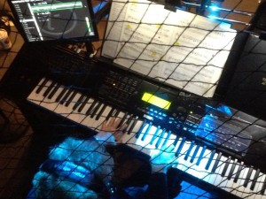 Sherry K at the keyboard for Wicked