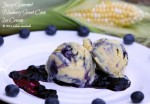 Blueberry Sweet Corn Ice Cream