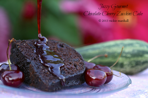 Chocolate Cherry Zucchini Cake