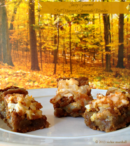 Fall Harvest Cheesecake Blondies