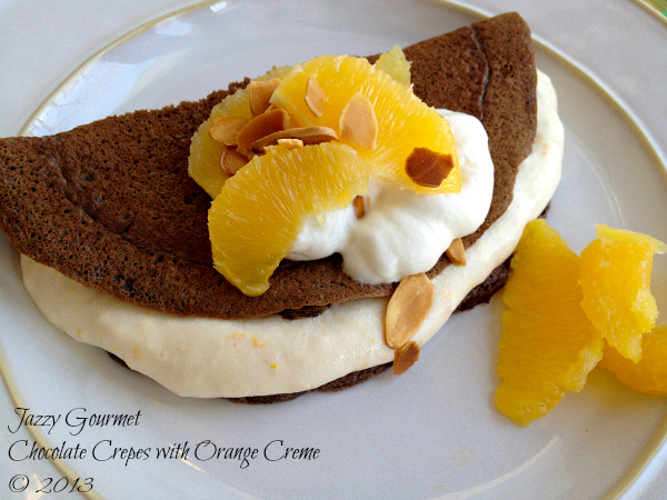 Chocolate Crepes with Orange Creme by Jazzy Gourmet