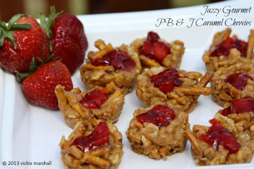 PB & J Caramel Chewies by Jazzy Gourmet