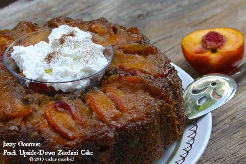 Peach Upside-Down Zucchini Cake
